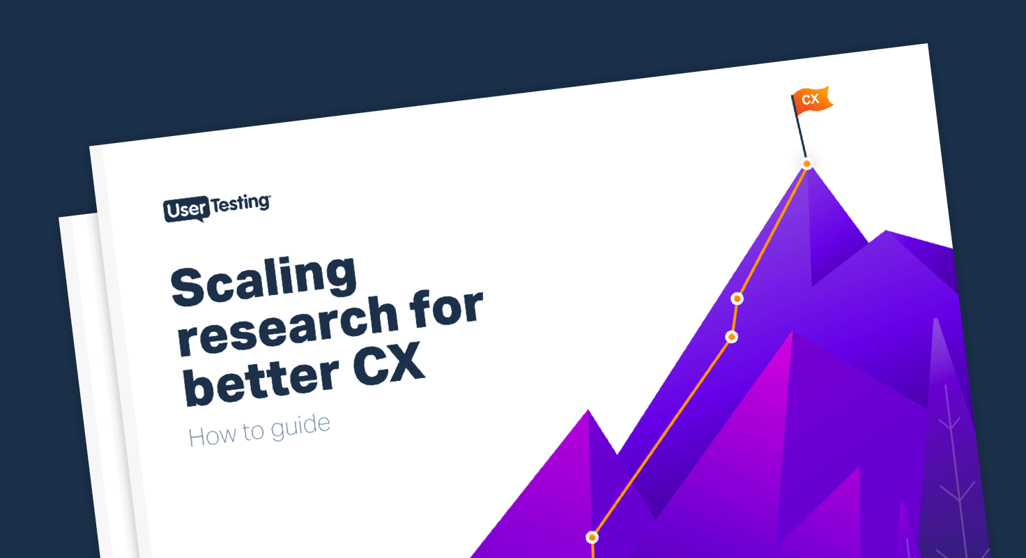 Scaling Research for better CX ebook