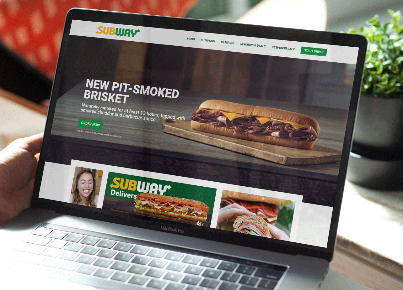 Customer viewing Subway.com