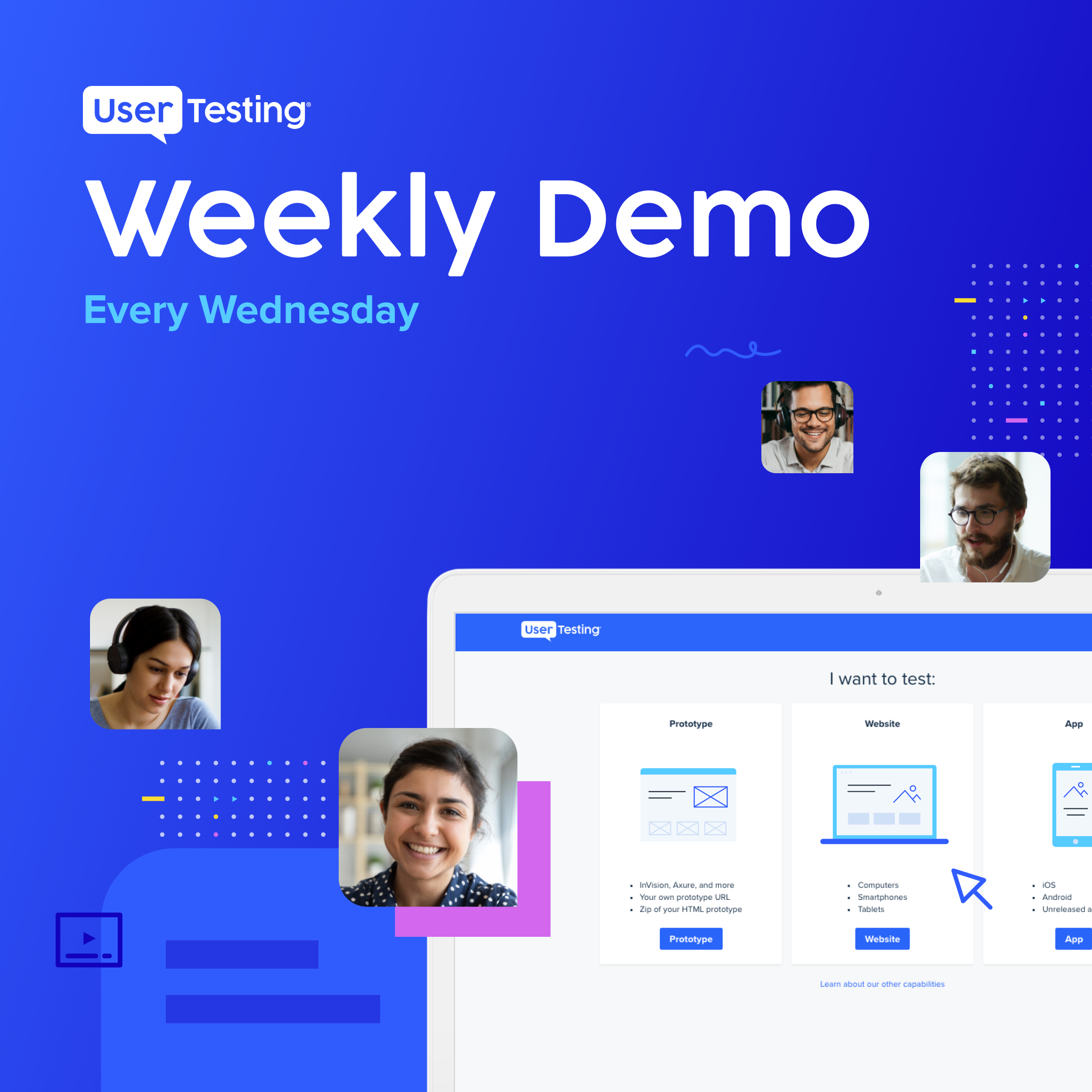 UserTesting weekly demo