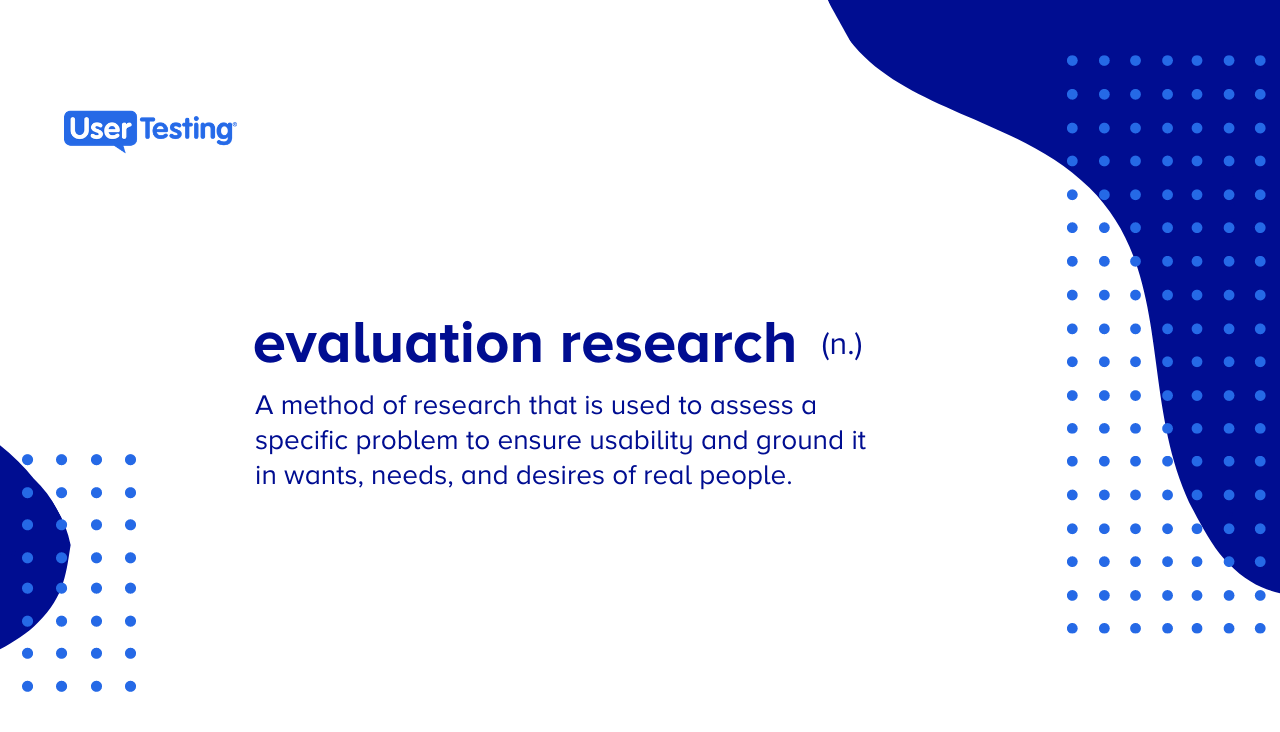 Evaluation research definition