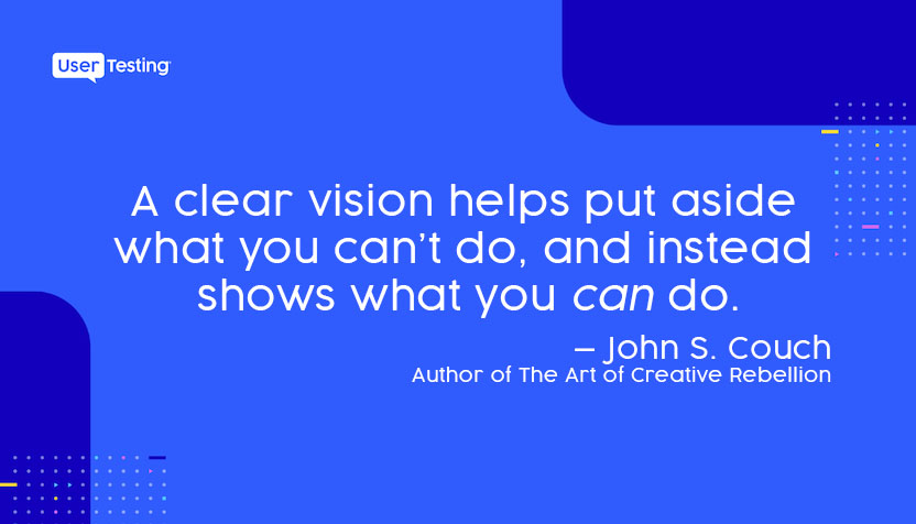 Image quote about the importance of having a vision to set alignment