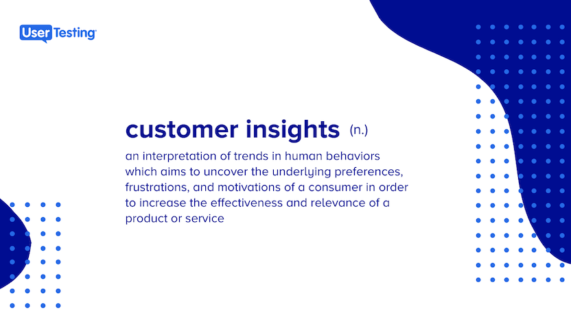 Customer insights definition