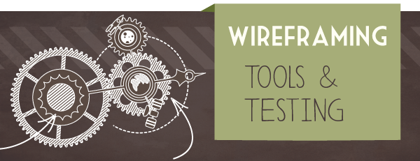 Wireframing Tools and Testing - Header