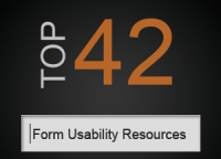 Form Usability Resources