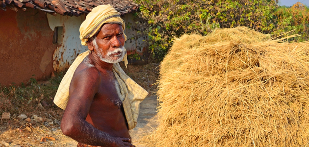 A rural farmer in India