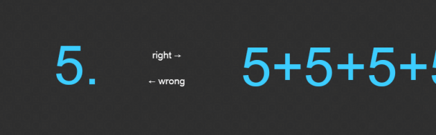 Graphic showing that 5+5+5+5... usability tests are recommended.