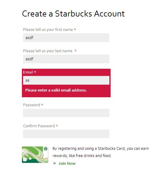 starbucks checkout