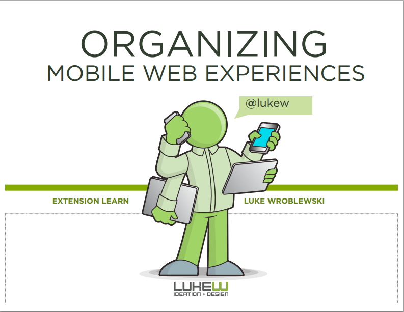 Organizing Mobile Web Experiences