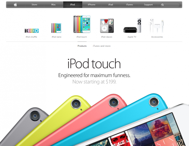 iPod product page