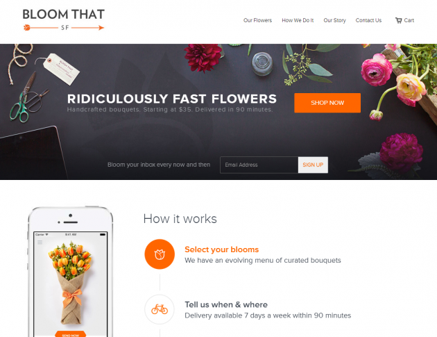 BloomThat home page