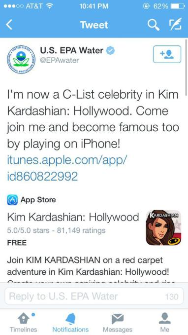 Kim Kardashian game tweet
