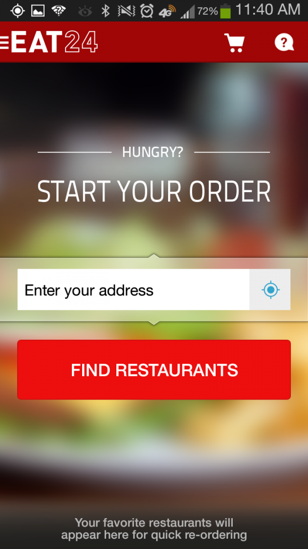 Eat 24 app screenshot
