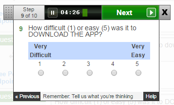 Question: How difficult (1) or easy (5) was it to DOWNLOAD THE APP?