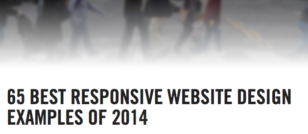 65 Best Responsive Website Designs of 2014
