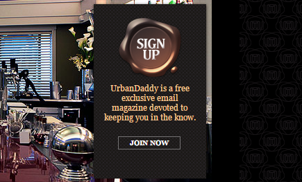 "UrbanDaddy copy: ""UrbanDaddy is a free exclusive email magazine devoted to keeping you in the know."""