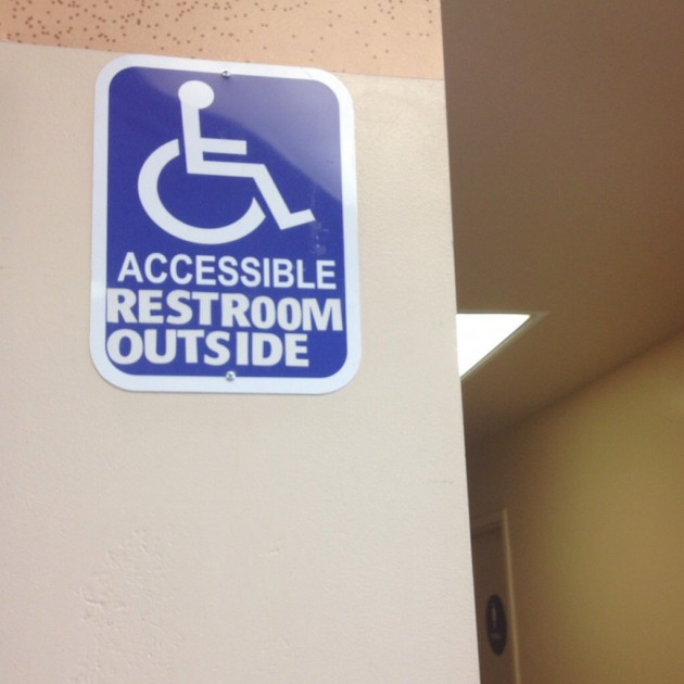 Accessible Restroom Outside signage