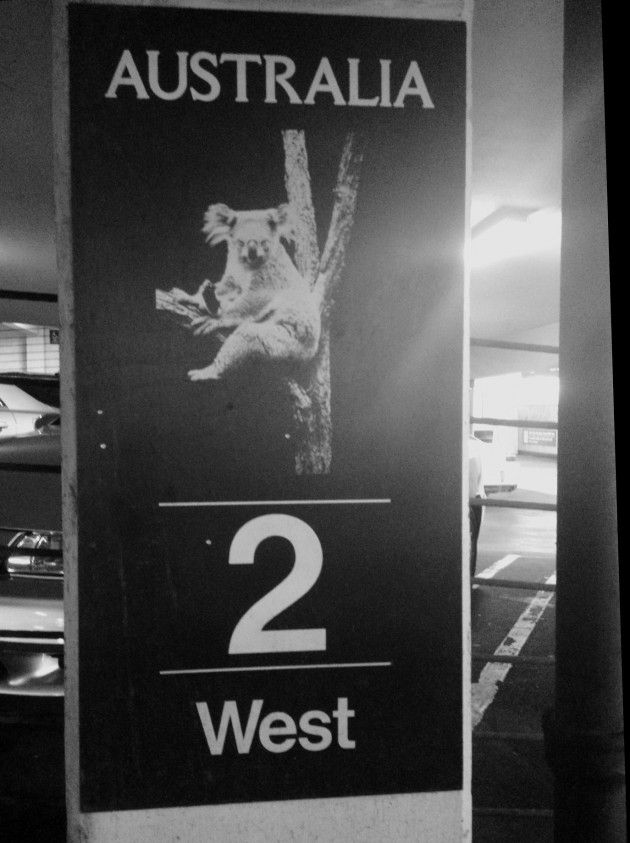 Photo of parking garage signage