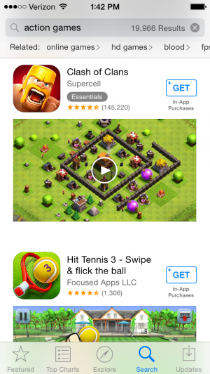 Clash of Clans App Store