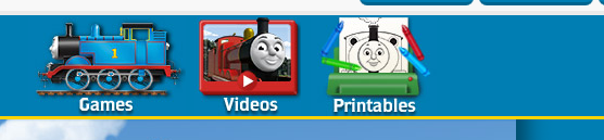 Thomas the Tank Engine site navigation