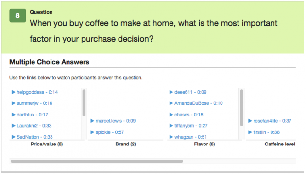 Screenshot: When you buy coffee to make at home, what is the most important factor in your purchase decision? (with answers)