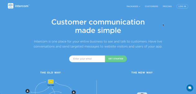 Customer communication made simple. Intercom is one place for your entire business to see and talk to customers. Have live conversations and send targeted messages to website visitors and users of your app.