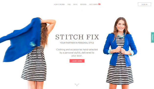 stitch fix homepage