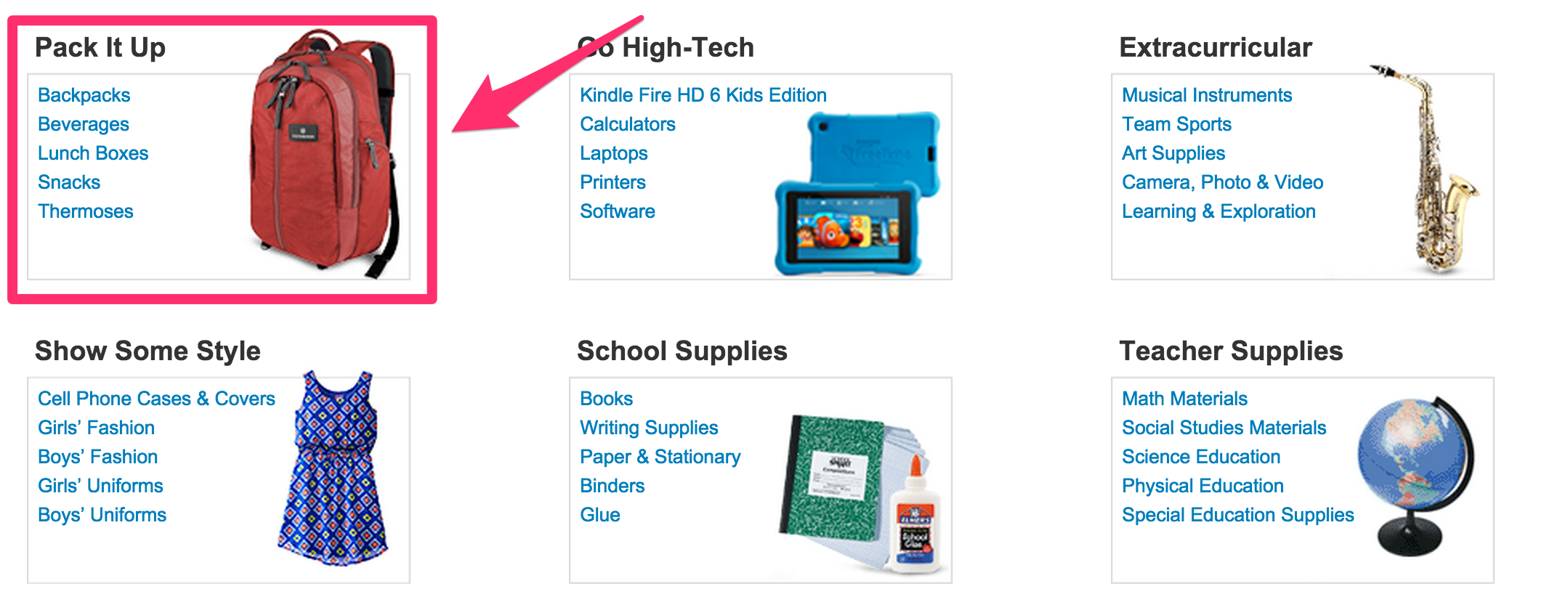 amazon-back-to-school-categories