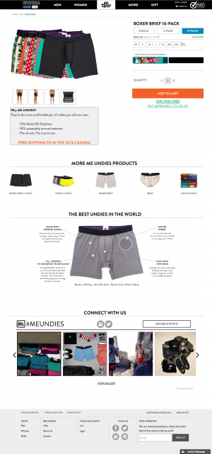 Boxer brief product page