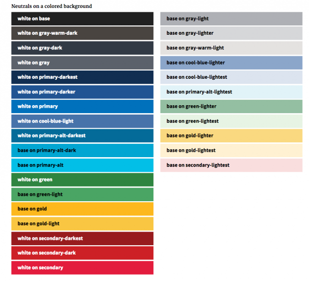 U.S. Web Design Standards' color palette suggestions.