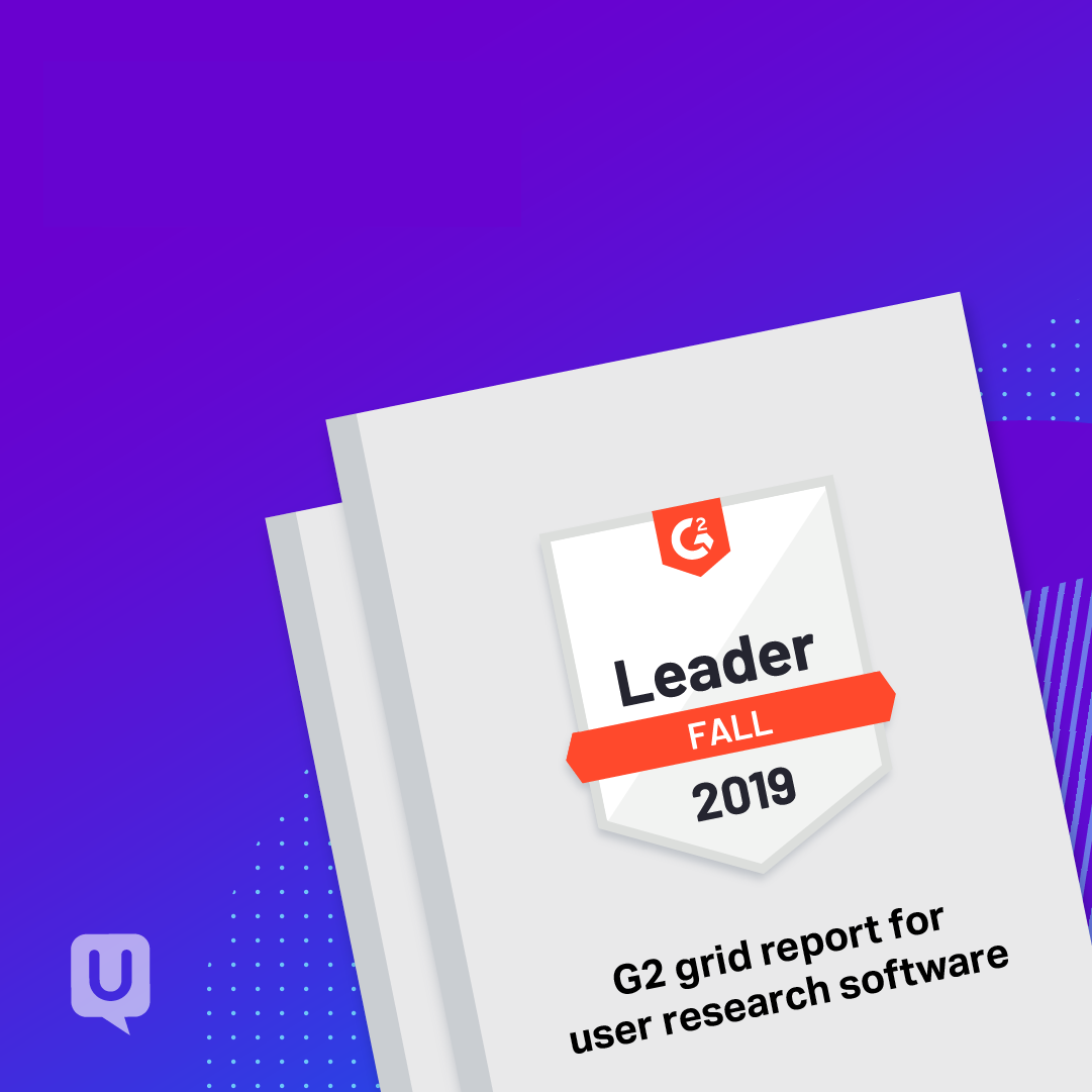 UserTesting receives only Leader distinction in G2's Fall 2019 Grid®