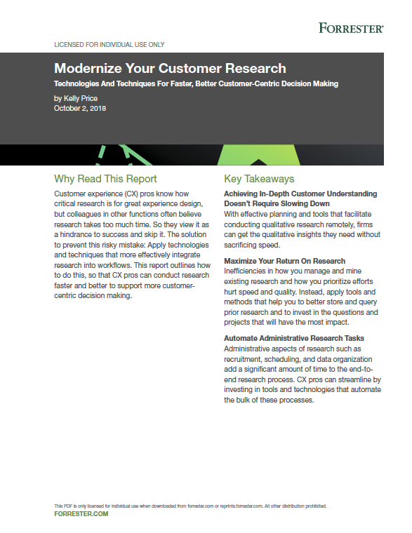 Forrester report: Get the customer insight you need without sacrificing speed
