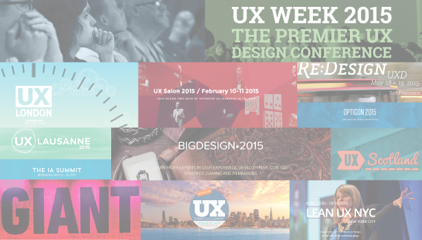 30+ Top UX Conferences of 2015